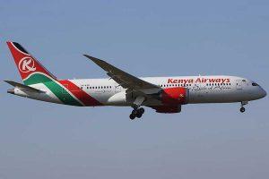 Un aereo della Kenya Airways