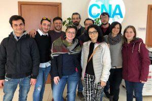Viterbo - Cna - Alcuni dei nuovi operatori del legno