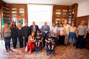 Viterbo - La famiglia Tincu in sala Coronas