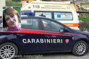 Carabinieri e 118 - Nel riquadro: Annalisa Fochetti