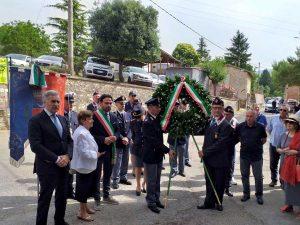 Fabrica di Roma - La cerimonia in memoria dell'agente Rolando Lanari