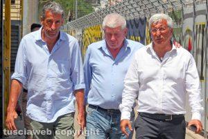 Sport - Calcio - Marco Romano al Rocchi con i suoi collaboratori
