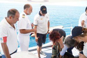Civitavecchia - Il ministro Toninelli e i parlamentari in visita alla capitaneria e al porto