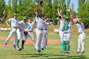 Sport - Baseball - Montefiascone - L'esultanza dei giocatori