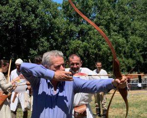 Viterbo - Ludika 2019 - Giovanni Arena tira con l'arco