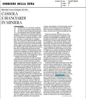"""Una recensione sul Corriere della Sera de """"I minatori della Maremma"""""""