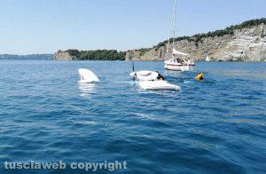 Lago di Bolsena - Idrovolante si inabissa