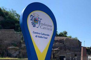 Viterbo - Nuova insegna per il centro culturale di Valle Faul