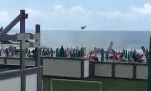 Tromba d'aria sul litorale di Napoli