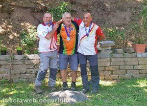Sport - Tiro con l'arco - Il podio dei campionati regionali a Soriano