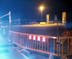 Montalto Marina - Il parcheggio transennato