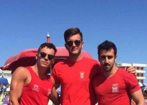 I bagnini Christian Iodice, Mirko Fattori e Riccardo Piras
