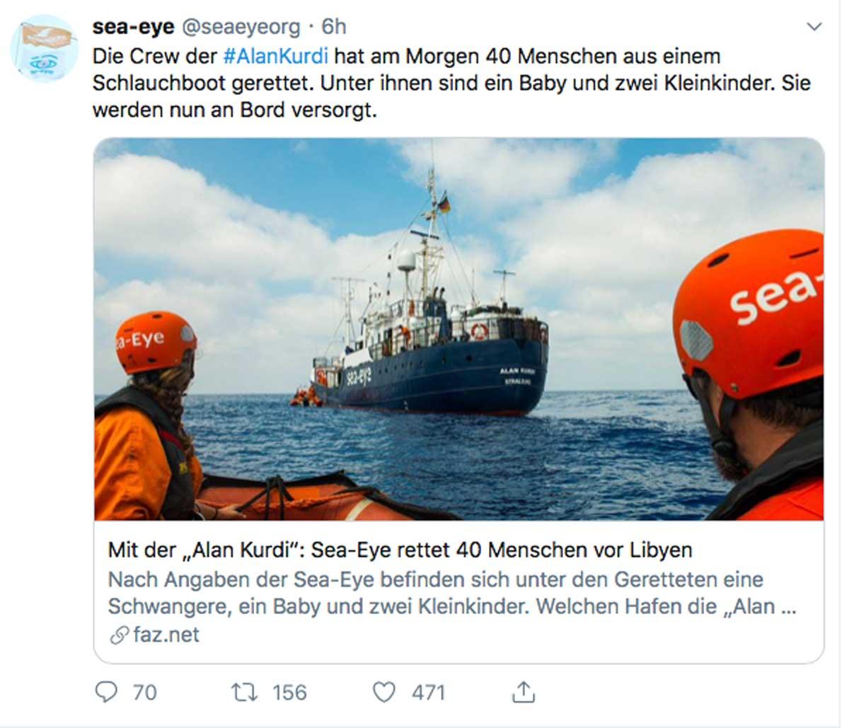 Sbarcati 116 migranti dalla Gregoretti, divieto per la Alan Kurdi