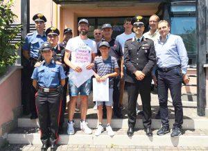 La visita dei due dispersi nel lago salvati dai carabinieri
