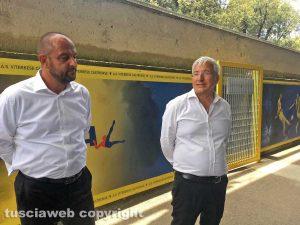 Sport - Calcio - Viterbese - Marco Romano e Diego Foresti al Rocchi