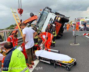 Civitavecchia - Incidente sulla A12