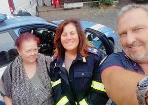 Ronciglione - Frana sulla provinciale Valle di Vico - Le due donne salvate dalla Polstrada