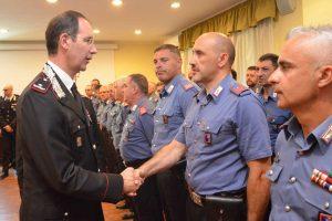 Il generale Marco Minicucci in visita al comando dei carabinieri di Viterbo