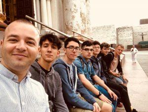 I ragazzi dell'ott Da Vinci durante il progetto Erasmus Jetvet