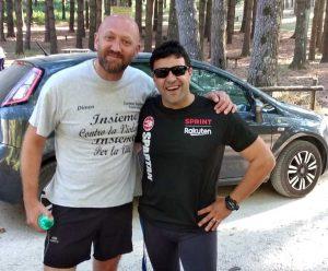 A destra De Mitri Cosimo e il coach Piedilato Michele