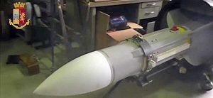 Torino - Polizia - Missile sequestrato