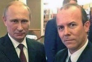 Gianluca Savoini con Vladimir Putin