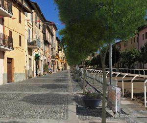 Ronciglione - Il rendering di viale Garibaldi