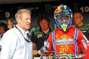 Sport - Motocross - Alessandro Lupino col presidente della Federmoto Copioli