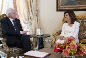 Roma - Elisabetta Casellati e il presidente della Repubblica