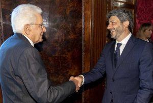 Roma - Roberto Fico e il presidente della Repubblica