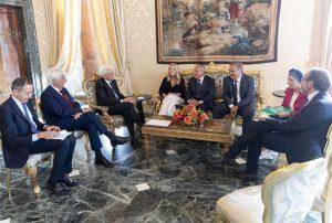 Roma - Il gruppo misto al Quirinale