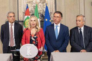 Roma - Il gruppo per le Autonomie nella conferenza stampa dopo il colloquio al Quirinale
