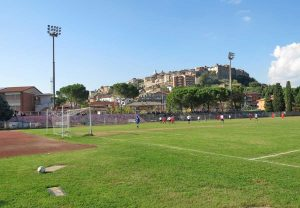 Sport - Calcio - Orte - Una partita allo stadio Filesi