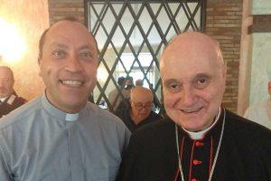 Il cardinale Angelo Comastri in visita a Onano