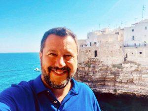 Matteo Salvini a Polignano