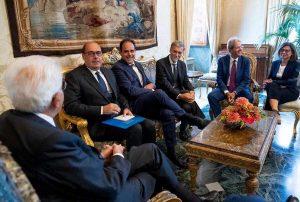 Roma - Il colloquio tra la delegazione del Pd e Sergio Mattarella