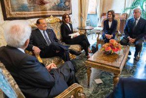 Roma - La delegazione di Forza Italia da Sergio Mattarella