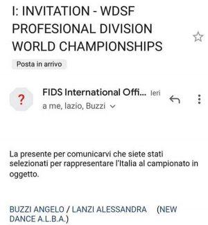 La convocazione ai mondiali di danza sportiva per Buzzi e Lanzi