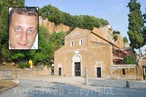 Castel Sant'Elia, la basilica dove saranno celebrati i funerali del carabiniere - Nel riquadro: Daniele Gatti