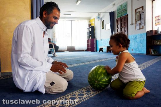 Viterbo - Mohamed Kdib e la figlia Fatima