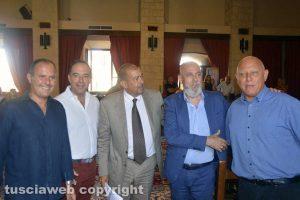 Tarquinia - Da sinistra i sindaci Caci, Pasquini, Giulivi, Tedesco e Testa-(1)