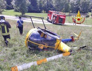 Belluno - L'elicottero precipitato