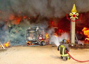 Vicenza - L'intervento dei vigili del fuoco