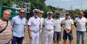 Il direttore marittimo del lazio Vincenzo Leone in visita a Santa Marinella