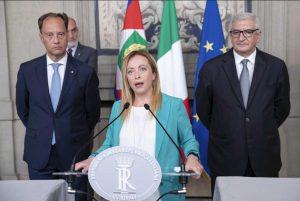 Roma - Giorgia Meloni al Quirinale