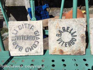Viterbo - Le mattonelle dell'antica fabbrica di Francesco Barelli