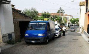 Tre Croci - La polizia locale sul posto dell'investimento