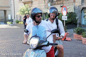 Bianchini e Achilli sullo scooter