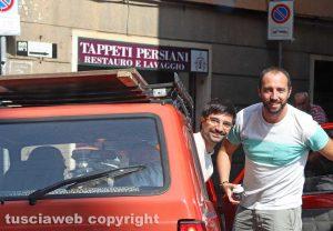 Daniele Sabatini e Matteo Achilli sulla Panda
