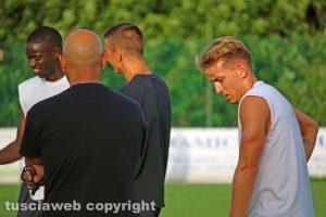 Sport - Calcio - Viterbese - Jari Vandeputte accanto ad Antonio Calabro
